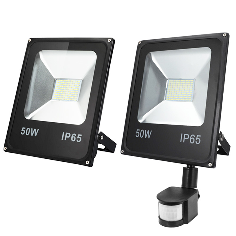 <font><b>LED</b></font> Flood lights <font><b>10W</b></font> 20W 30W 50W Pir Motion sensor Outdoor Lighting <font><b>Reflector</b></font> Spot IP65 Floodlights Garden Wall Lamp AC110V 220V image