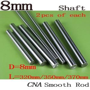 6 uds./set todo nuevo varilla de impresora 3D eje lineal de 8mm L320/350/370mm riel lineal redondo eje 8mm carril guía para 2 uds largo de cada uno