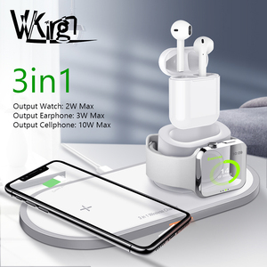 Image 1 - VVKing Wireless Charger For iPhone X XS MAX XR 8 Fast Wireless Full load 3 in 1 Charging Pad for Airpods 2019 Apple Watch 4 3 2