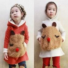Cartoon Children Clothing Winter Warm Girl Clothes Thicken Sweatshirt Cartoon Panda Kids Sweater Coat