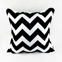 18 18 Decorative Modern Black White Chevron Zig Zag Throw Cushion Cover Pillow Case For Sofa