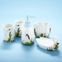 Swan bathroom household items ceramic sanitary ware set bathroom five piece LO861115