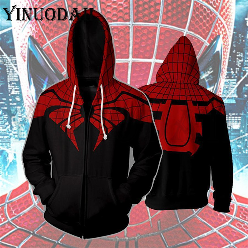 Winter Men Marvel Comics Spiderman Hoodie Sweatshirts Women Autumn Funny Print Hoodies 3d Harajuku