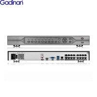 Gadinan H.265 16CH 5MP POE NVR ONVIF 48 V для 4 K 5MP 4MP 3MP 1080 P POE IP Камера сети видеокамера наблюдения CCTV Системы