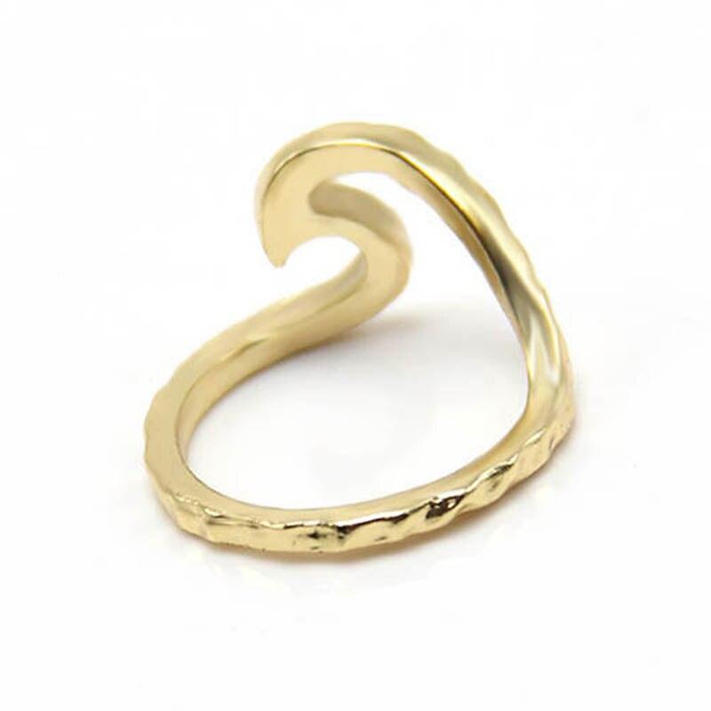 Martelado anéis Anel de Onda da moda de metal Único falanges anéis SPL para Derek
