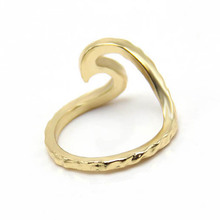 Hammered rings Single metal trendy Wave Ring phalanges rings SPL for Derek