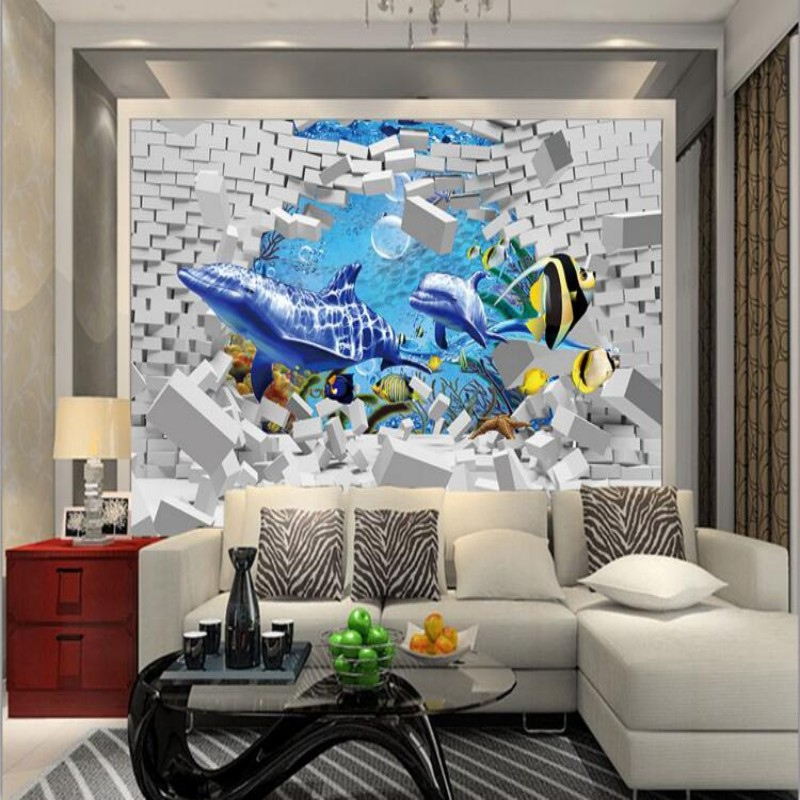Online buy wholesale bedroom decor themes from china for 3d aquarium wallpaper for bedroom