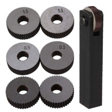 Черный и серебристый стальной прямой линейный набор инструментов для накатки с шагом 0,5 мм 1,5 мм 2 мм, набор из 7