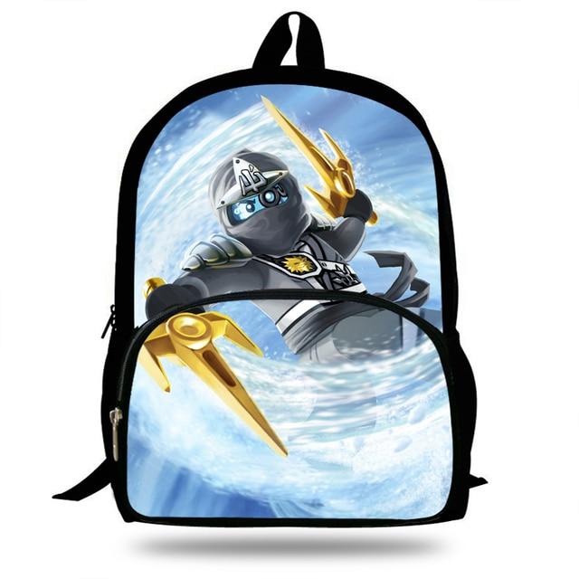 16inch Mochila Children Fashion Cartoon Student Backpack Ninjago Bag Girls  Travel Bag Teenagers Boys School Bag 4a0db094d390d