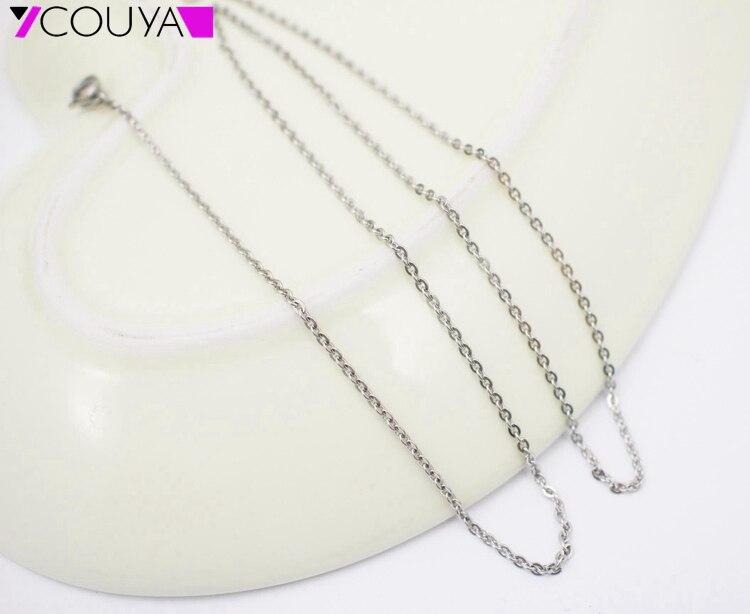 695470893fde Couya 2017 nueva moda al por mayor collar de cadena de acero inoxidable 2mm  plana de plata Rolo collar de cadena envío gratis