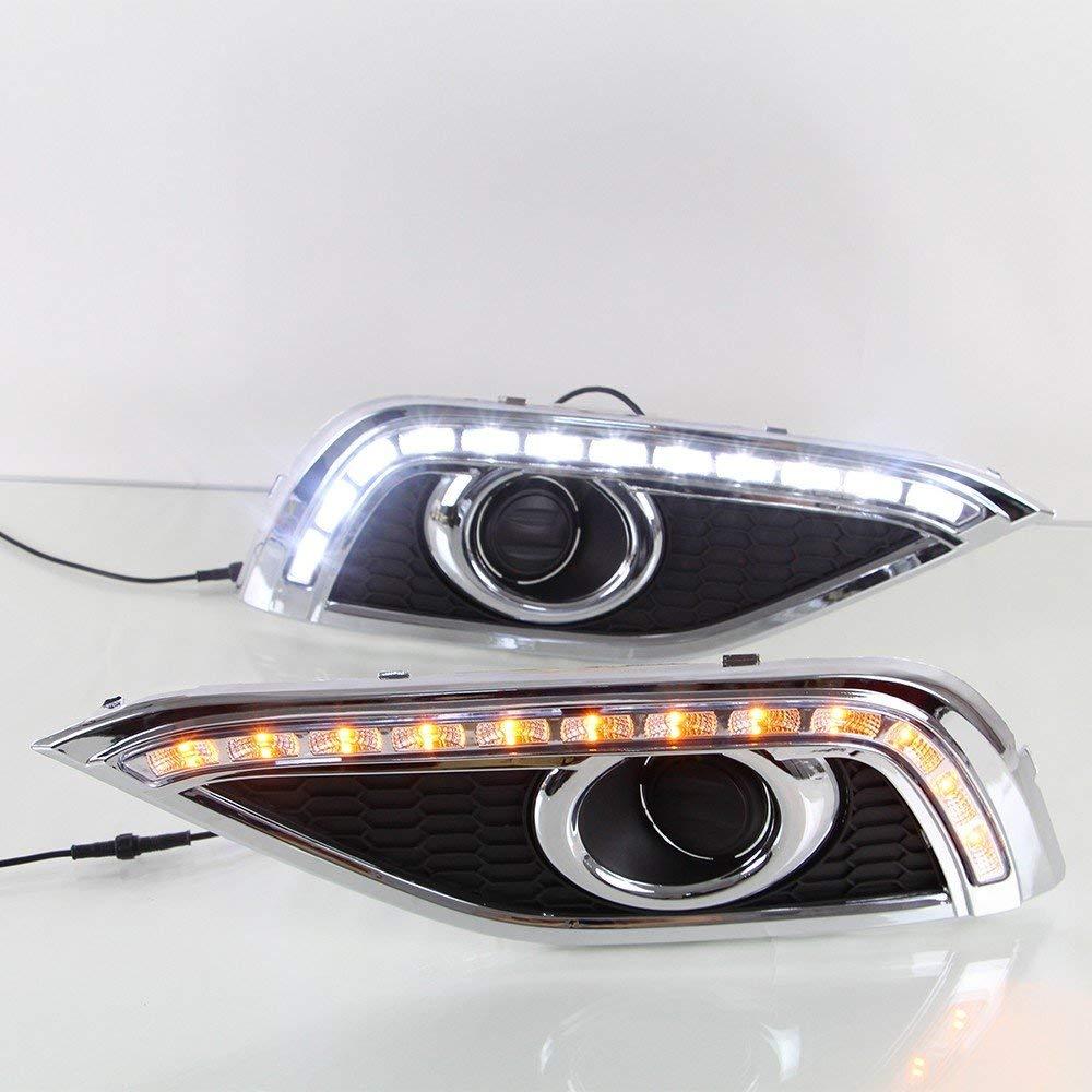 LED DRL Tagfahrlicht Nebel Lampe mit COB Angel Eye 12V Auto Led tagfahrlicht für Ford Edge 2015 2017 - 3