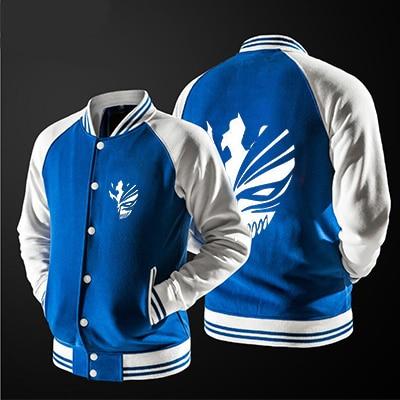 Anime Hiphop Bleach Kurosaki Ichigo Men baseball jacket, no  Luminous Unisex 3d Printed Anime Jacket Men Coat, EU size