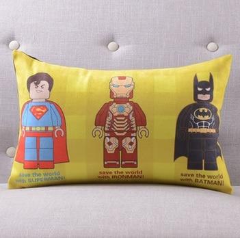 Америка супер герой Супермен Человек паук Железный человек чудо-подушка с изображением Женщины чехлы на диван сиденье бархатное покрытие для подушки наволочка - Цвет: J