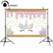 Allenjoy photography backdrop slime unicorn star party decor background photocall photobooth photo shoot prop fantasy(China)