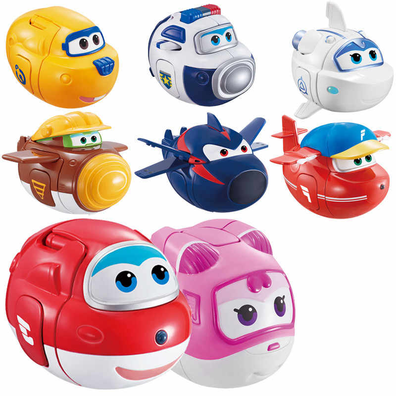 12 styles super wings Transformation Toys Catapult Mini Super Wings Planes Deformation Airplane Robot Eggs Action & Toy Figures
