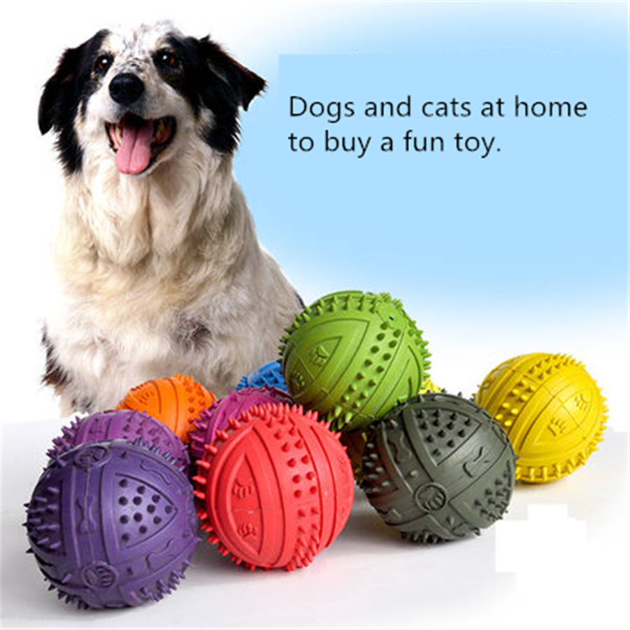 Durable Rubber Dogs Toy Ball Cats Pet Interactive Dog Products Play Pets Game Gatos Fun Training Cats Balls Toys Dog QQV341