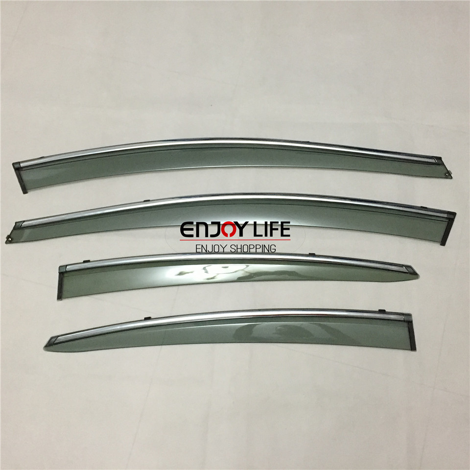 4pcs/set Smoke Sun Rain Visor Vent Window Deflector Shield Guard Shade For Hyundai Elantra 2011- 2014 4pcs set smoke sun rain visor vent window deflector shield guard shade for vw volkswagen passat b8 2015 2016 2017