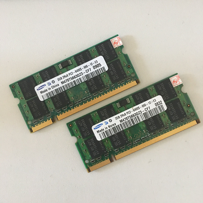 SAMSUNG 2RX8 PC2-6400S 2 GB 800 Mhz DDR2 2 gb 800 MHZ Laptop Memory 2G pc2 6400
