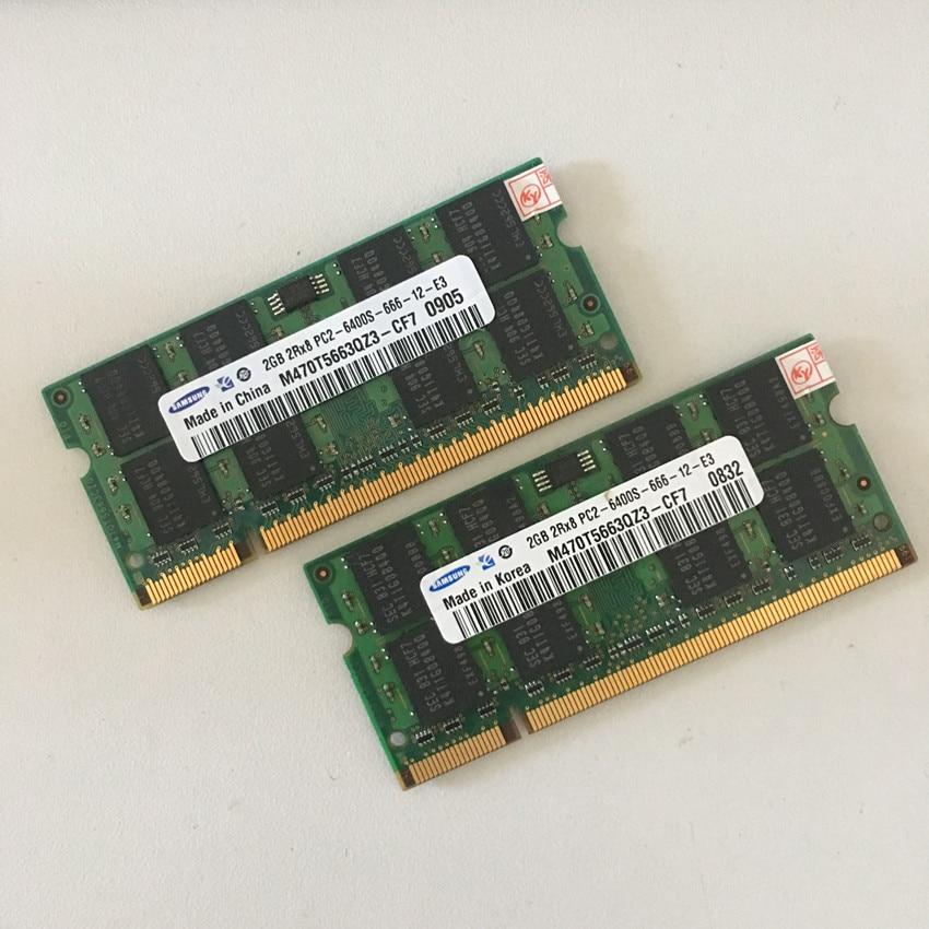 Бесплатная доставка Samsung 2 ГБ 2Rx8 PC2-6400S 800 мГц DDR2 2 ГБ памяти ноутбука 2 г PC2 6400 800 мГц тетрадь модуль sodimm Оперативная память