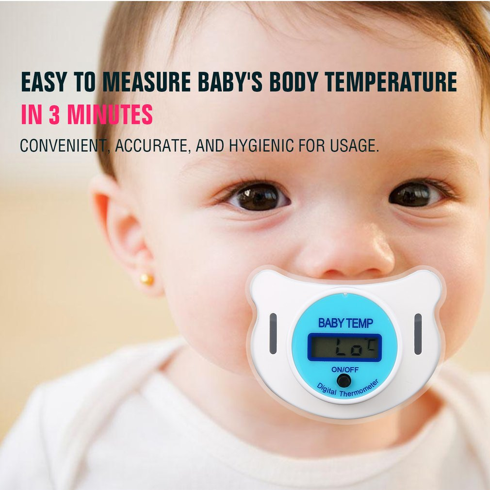 LCD Digital Baby Nipple Thermometer Medical Silicone Pacifier Children's Thermometer Health Safety Care Thermometer For Childre
