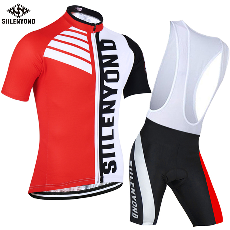 SIILENYOND Summer short Cycling Set Men Bike Clothing mtb Bicycle Wear Maillot Ropa Ciclismo Short Sleeve Cycling Jersey Suits|Cycling Sets| |  - title=