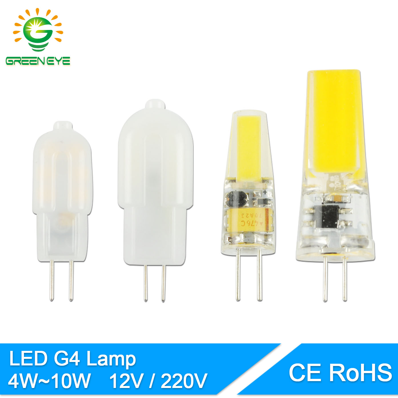 greeneye g4 dimmable ac dc 12v 220v mini led g4 lamp cob led bulb g4 4w 6w 10w replace halogen. Black Bedroom Furniture Sets. Home Design Ideas