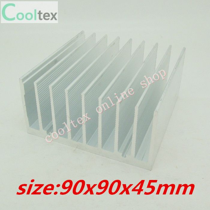 (2pcs/lot)  90x90x45mm  Aluminum radiator HeatSink for electronic Chip CPU GPU VGA RAM LED IC Heat Sink  COOLER cooling 200pcs lot 0 36kg heatsink 14 14 6 mm fin silver quality radiator