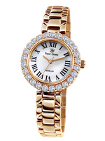 Royal Crown Jewelry Watch 6305S Italy Brand Diamond Japan MIYOTA Rose Gold Fine Fashion Stainless Steel