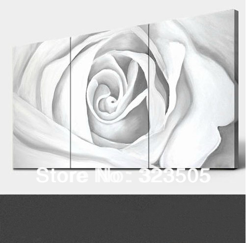 3 panel rose canvas wall art Modern abstract three piece rose ...