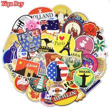 100 Pcs Retro Traveling Stickers Tourist Sites Graffiti Decal Sticker for Suitcase Laptop Luggage Bag Guitar Moto Fridge Bicycle(China)