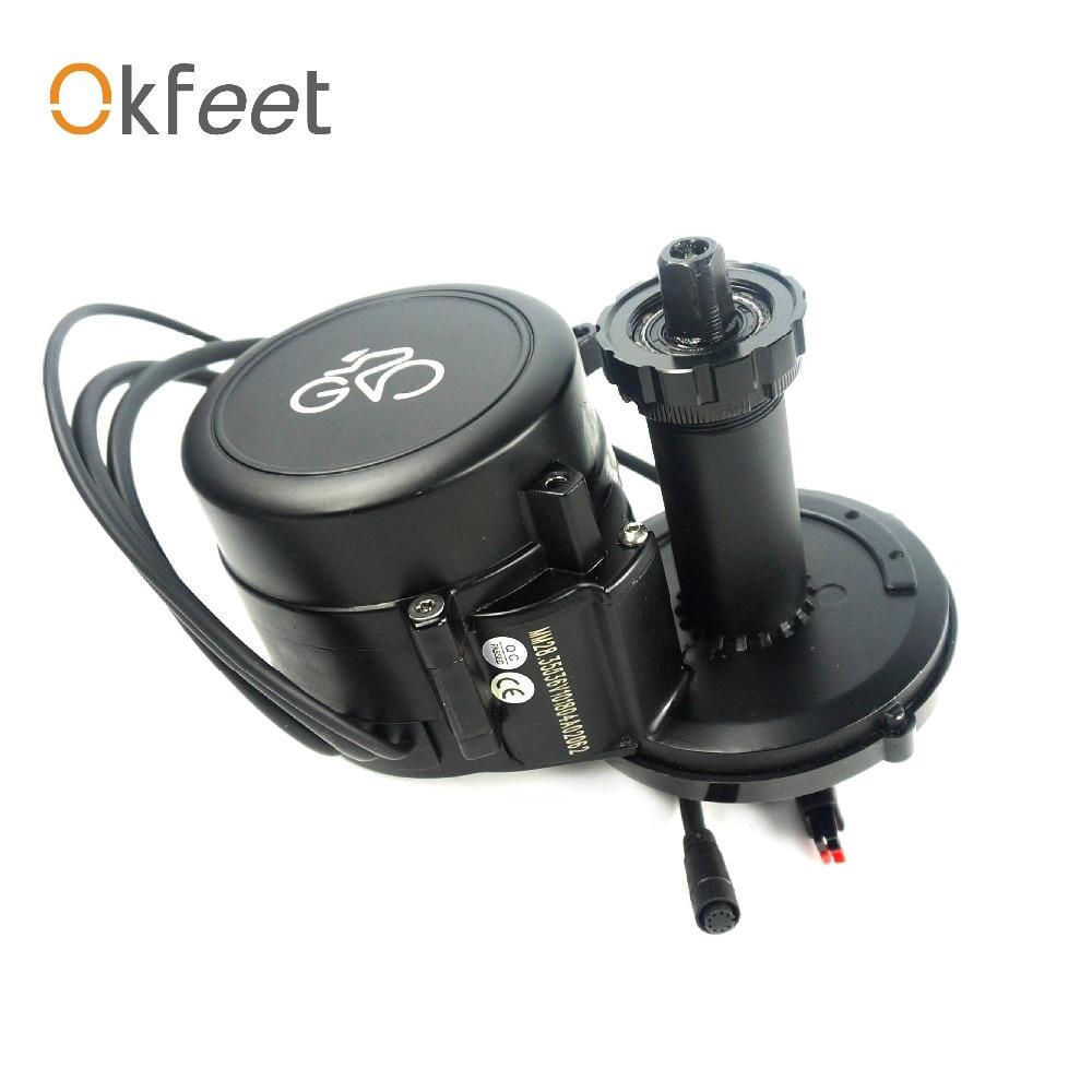 Okfeet Ebike Kit LB Lingbei Mitte Motor Display 36V 250W e Fahrrad Mitte Stick Motor Elektrische Fahrrad conversion Kit
