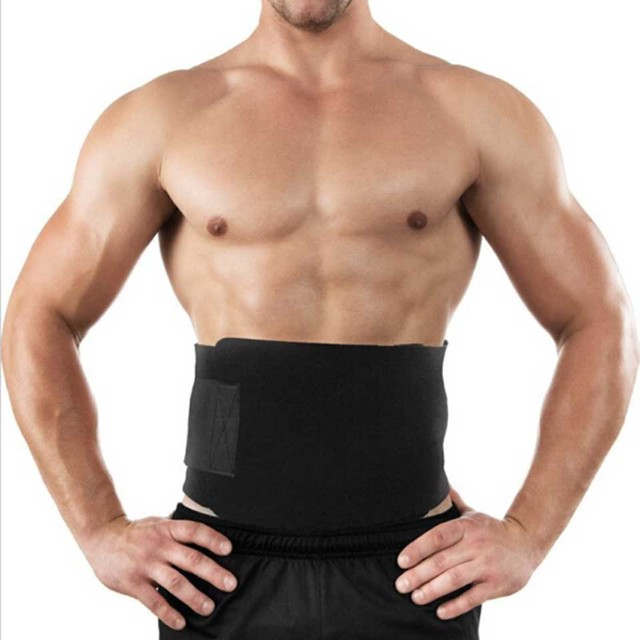 Breathable Women Men Slimming Belt Abdominal Lumbar Support Brace Waist Slimmer Tummy Trimmer 20*100CM 3