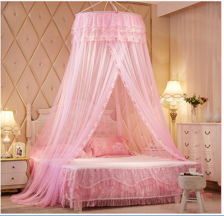 Round princess royal ceiling net Elegant romantic sweet hung dome mosquito net Round Lace Insect Bed Canopy Net wedding decorate-in Mosquito Net from Home ... & Round princess royal ceiling net Elegant romantic sweet hung dome ...