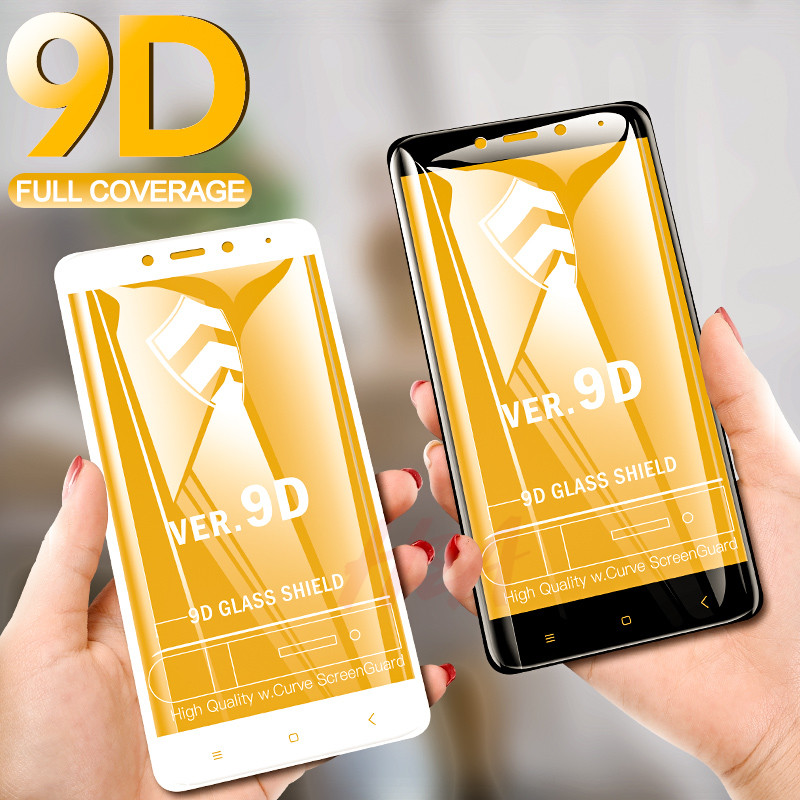 H&A 9D Full Cover Tempered Glass For Xiaomi Redmi Note 7 5 6 Pro Protective Glass Redmi 7 4X 5A 6A 5 Plus 6 Pro Screen Protector