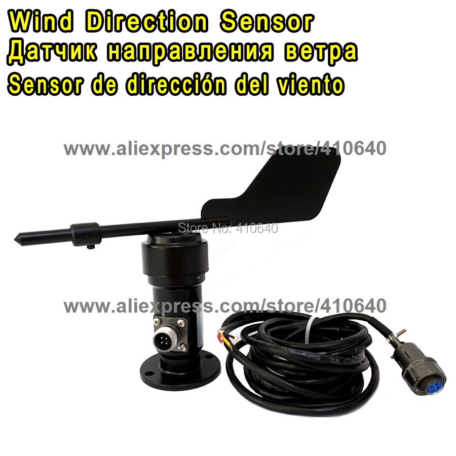 цена на Aluminium Alloy Wind Direction Sensor Voltage Type 0 to 10V Wind Direction Sensor Power Supply DC12 to 24V Connection Air Plug
