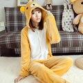 Urso amarelo cosplay pijamas animal pijama anime trajes de inverno roupas de festa