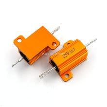 RX24 25W 1KR 1KJ 1K Power Metal Shell Aluminium Gold Resistor 25Watt 1K ohm Power Heatsink Resistance Golden Heat Sink Resistor