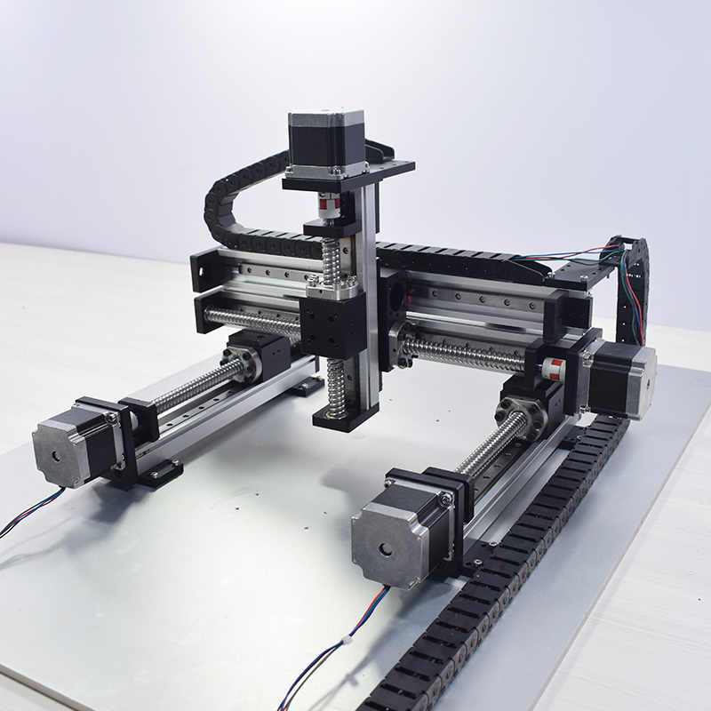 XYZ Automatic Gantry Robot CNC Linear Module Guide Ball Screw Rail Slide  Motion Actuator Workbench Robotic Arm Z Axis 100 mm