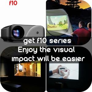 Image 4 - ViviBright LCD projektör 1280x720P 2800 lümen HDMI USB ev eğlence projektör dahili hoparlör 3D Video projektör F10