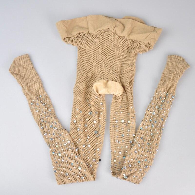 Сексуальные бриллиантовые женские колготки нейлоновые ажурные колготки сетчатые колготки Стразы дамские Чулки Блестящие Колготки Collant сетчатые чулки