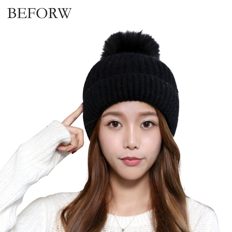 Autumn and winter eaves small cap Korean version of the female hat Warm women hat Cute female winter hat Winter hat Big serve ha 2017 of the latest fashion have a lovely the hat of the ear lovely naughty lady s hat women s warm and beautiful style