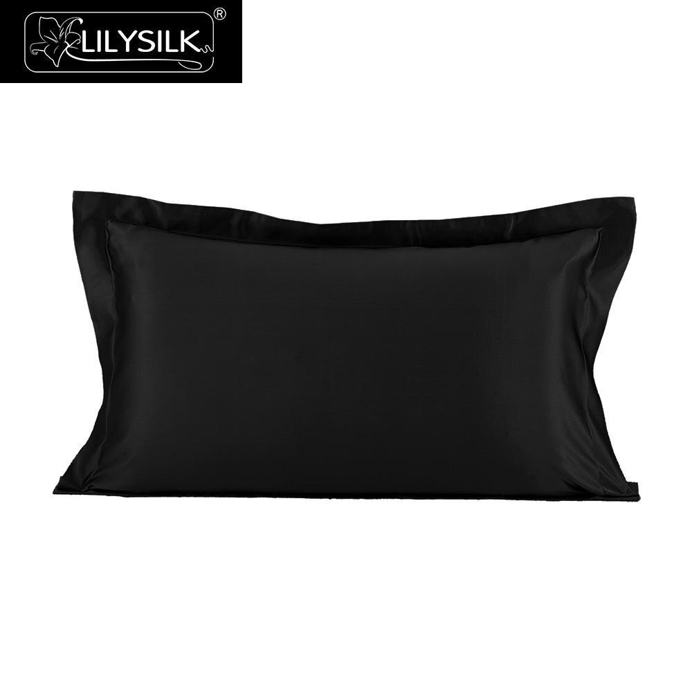 LilySilk taie d'oreiller Pure 100 soie naturelle pour cheveux luxe Oxford Mulberry 22 momme beauté 40x40 50x90 Textile maison livraison gratuite-in Taie d'oreiller from Maison & Animalerie    1