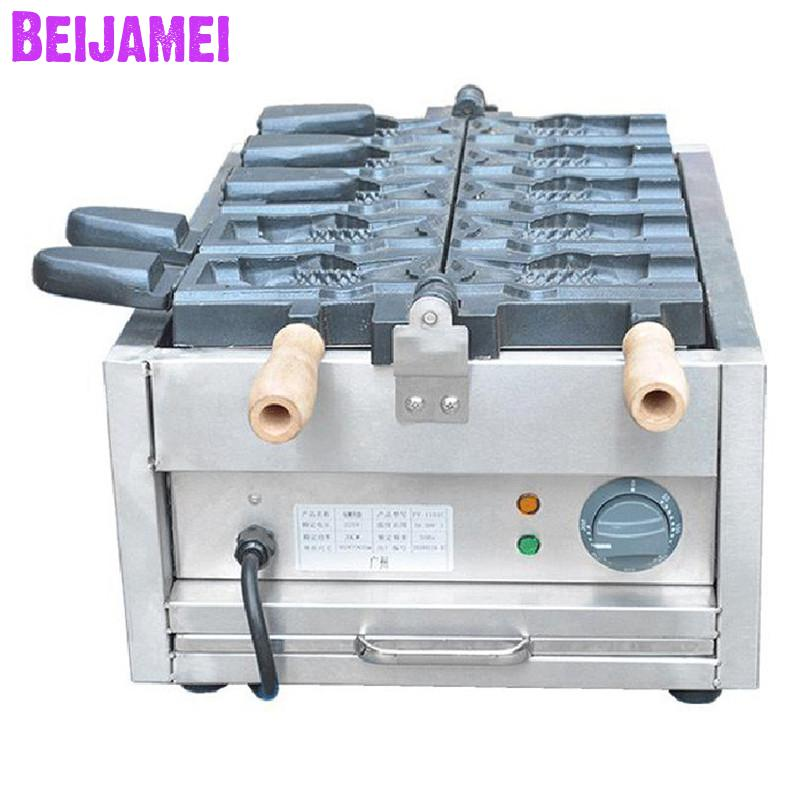 Beijamei Open Mouth Taiyaki Machine 110v 220v Electric Fish Shaped Cake Machine Commercial Ice Cream Taiyaki Maker Cooking Appliances Kitchen Appliances