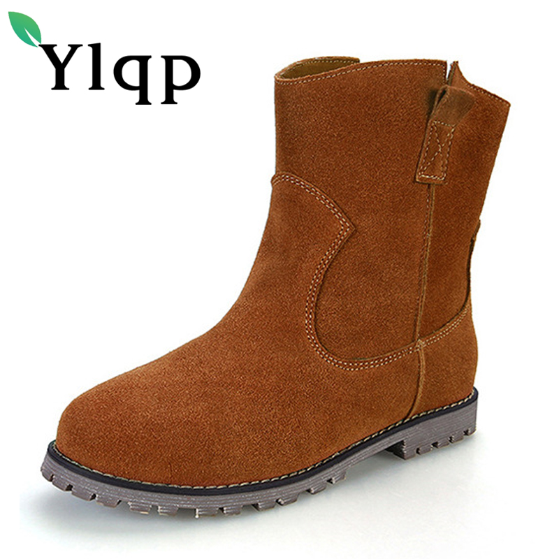 Фото Ylqp 2018 New Female Vintage Casual PU Leather Martin Boots Women