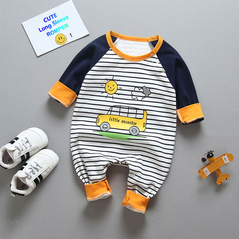 fashion baby boys romper lion print toddler baby romper long sleeve warm baby girl cotton clothes Infant girl winter romper stylish scoop neck half sleeve argyle print women s romper