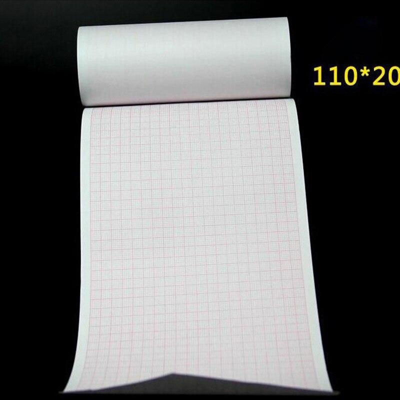 Термобумага В Рулоне ЭКГ бумага 110 мм* 20 м для CE маркированных цифровых 12 проводов 3/6 каналов ЭКГ машина ECG600G изоляционная бумага(1 шт