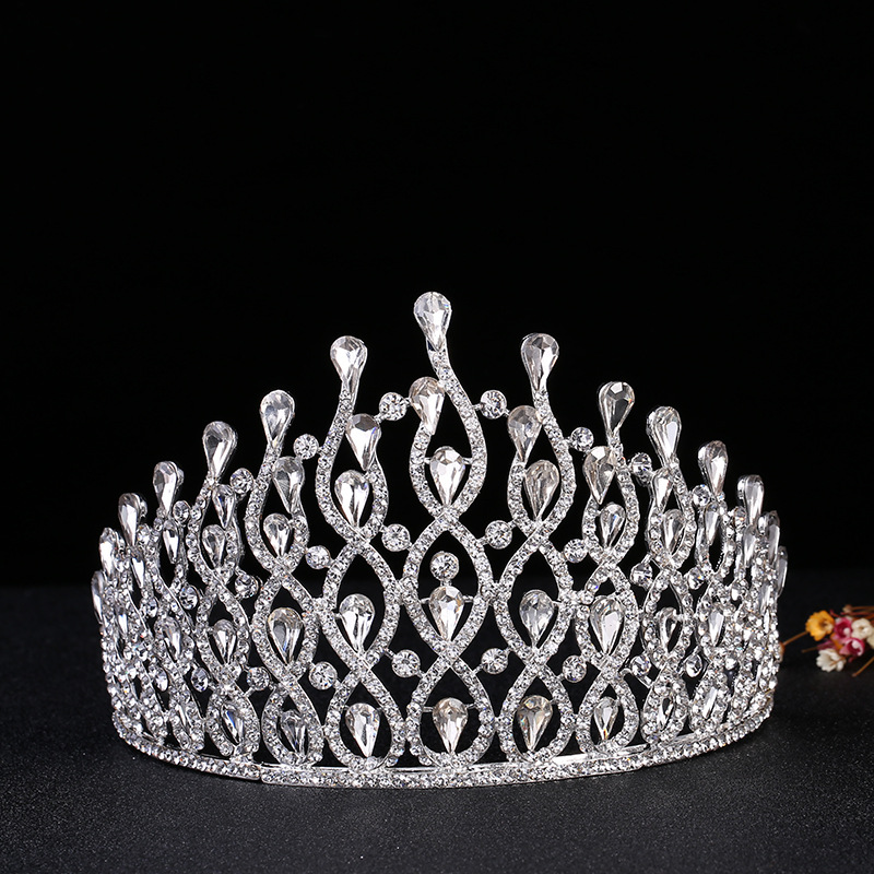 e7c9ddf86d Crystal Royal Queen King Bridal Tiara Crowns Bride Headpiece Pageant Prom  Diadem Hair Ornaments Wedding Hair Jewelry Accessories