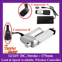 175mm Stroke 12V Linear Actuator With Wireless Remote Controller, 24V max 150KGS/ 1500N Load Linear Actuator For Window Opener