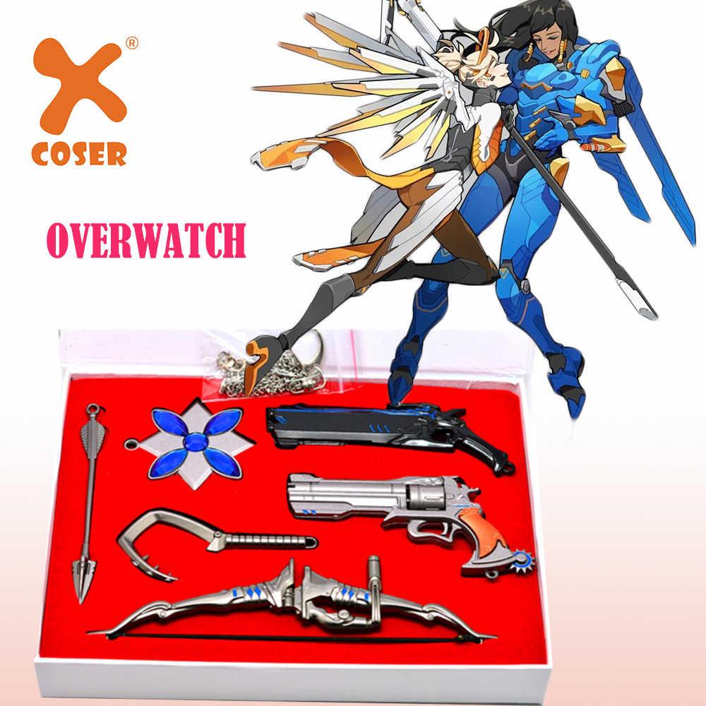 X-COSTUME Overwatch игра косплей Overwatch связанные брелок эмблемы и ожерелье аксессуар подарок на Хэллоуин