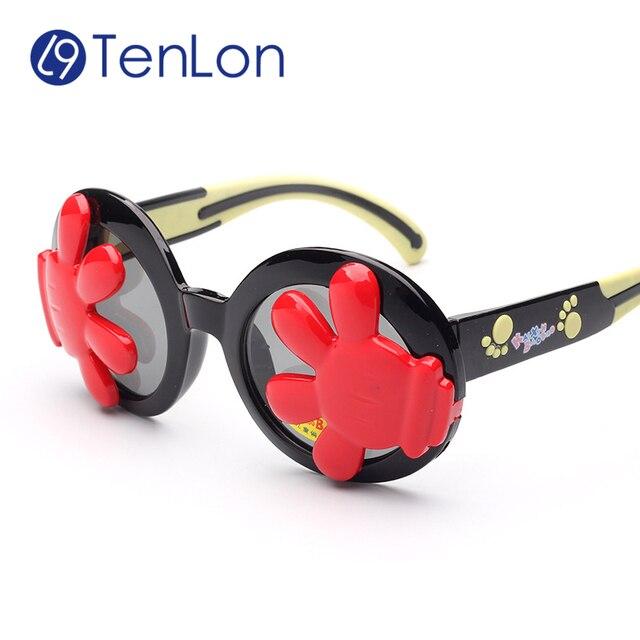 Us 180 Tenlon Kinder Polaroid Uv400 Kinder Hände Augenbinde Sonnenbrille Party Coole Kinder Sonnenbrille Oculos De Sol Gafas Infantile In Tenlon